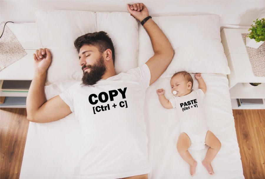Daddy and baby sleep copy paste